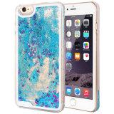 Modieuze Glanzend schittert Stromende Geval Harde Duidelijke Shell van het Drijfzand van de Sterren van de Fonkeling het Dynamische voor iPhone5S/6/6s/6 plus 7