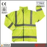 Jacket Segurança Mens Polar alta Visiblilty Reflective Hi Vis velo