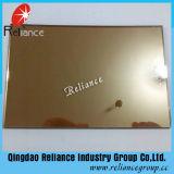 glace r3fléchissante en bronze en verre r3fléchissante de /Golden de bronze d'euro de 4mm 5mm 5.5mm 6mm 8mm