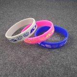 Изготовленный на заказ специальные Wristbands кремния логоса с SGS