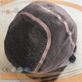 Mão cheia mono peruca superior amarrada do costume do plutônio do cabelo humano do laço