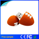 Lecteur flash USB promotionnel de PVC de forme du football du cadeau 2016