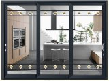 Двери складчатости черного цвета алюминиевые и Windows/двойные стеклянные двери