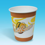 Six Color Printing를 위한 6.5oz/8oz White Paper Coffee Cup