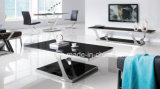 현대 스테인리스 유리제 광택 커피 탁자