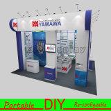 Portátil y aluminio Exposición Comercial estiramiento exhibición de la tela
