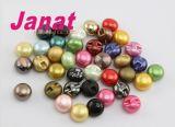 Кнопки перлы цветастой круглой плакировкой имитационные в металлическом цвете