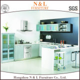 N & l имитация твердой древесины кухонного шкафа кухни MFC