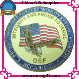 Pièce de monnaie annoncée en métal avec le logo 3D pour le cadeau militaire