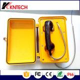 Telefono impermeabile Knsp-03 del telefono operato di guida