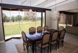 현대 디자인 내부 Frameless 유리제 겹쳐 쌓이는 문