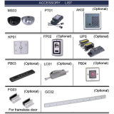 Control de acceso impermeable de la huella digital del metal para las puertas automáticas