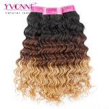 Tessuto peruviano dei capelli umani dell'onda profonda di colore di Ombre del nuovo prodotto