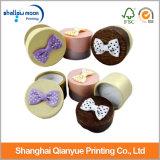 Fabricante modificado para requisitos particulares alrededor del rectángulo de regalo de papel encantador con el Bowknot (QY150210)