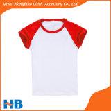 多色刷りLycraの綿の不足分の袖のTシャツの子供の着ること