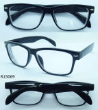 R15069 Glassic Plastic Reading Glasses mit Pins in Front