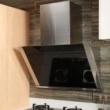 Gabinetes de cocina modulares de la cereza de Oppein de la forma contemporánea de la melamina T (OP15-053)
