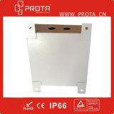 Caixa de distribuição IP66 fixada na parede elétrica de aço