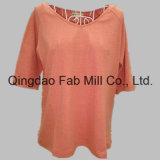 Cáñamo/camiseta orgánica del V-Cuello de las mujeres del algodón