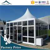 再配置可能な庭Backyard 6mx6m Clear Span Structure Commercial Glass Pagoda Tent