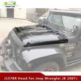 J157 07-16 JeepWrangler Jk Stahlschwarz-Eisenbahn-Deckel-Haube