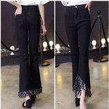 Calças de gola linda e de alta qualidade com calças de ganga Slim Denim Ladies
