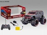 Quatro brinquedos do carro da função R/C com a roda grande para crianças