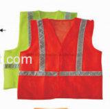 Het Vest van de Veiligheid hallo-Vis met Weerspiegelende DwarsBand (DFV1074)