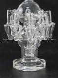 O vidro americano do reciclador da cor que fuma o adaptador bucal dobrado conduz o cachimbo de água de vidro