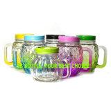 Glasbecher-Gläser, Fallhammer-Form-Glasbier-Glas mit Griff