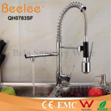 Paquet coloré Mount Hot et Cold Water Pull Down Spring Kitchen Sink Faucet de Kitchen Faucet Two Heads