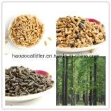 Litera de gato de madera de pino de Unclumping de la alta calidad