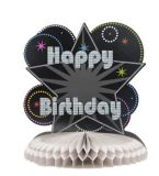 La torta caliente del feliz cumpleaños de la venta se imagina el papel de tejido de papel de las decoraciones de la pieza central del panal