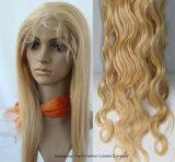 Cordón lleno del casquillo de 613# Glueless del pelo brasileño grande de las mujeres negras