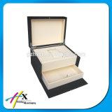 Caixa de embalagem de madeira feito-à-medida gama alta do relógio com gaveta