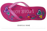 Sandelholze der Frauen füllten alleiniger Zapfen-Komfort-flache Flipflops auf