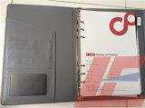 Cahier fait sur commande de cahier de couverture de cuir d'unité centrale et ordre du jour personnalisé/constructeur personnalisé d'agenda