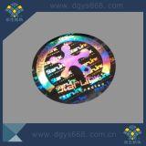 Etiqueta do holograma do número da desmetalização
