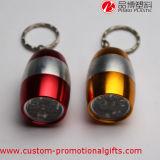 Taschenlampe der Aluminiumfall-kleine nette Batterie-LED mit Keychain