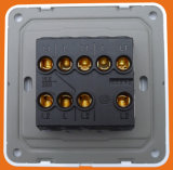 het UK 10ax 3 Gang 2 Way Switch Flame Retardent met Ce Approved
