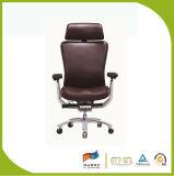 Schwarzer Korea-voller lederner Chef-Büro-Stuhl
