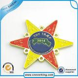 Изготовленный на заказ Pin отворотом значка металла формы звезды держателя Fashional