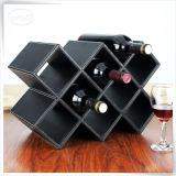 Caixa por atacado de couro elegante do vinho do plutônio para 8 vinhos
