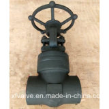 API602 forjou a válvula de porta de aço do NPT da extremidade de linha do selo de pressão