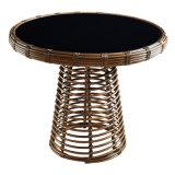 여가 가구 옥외 등나무 밝은 밤색 식탁 및 의자