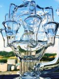 Loch-Tornado-Filtrierapparat-Glas-rauchende Wasser-Rohre, Großverkauf-bestes Qualitätssystem-Fabrik-Glas-Rohr