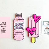 La caja rosada dulce del teléfono del helado de la botella del amor 3D junta la caja suave del caucho de silicón para el iPhone 6 6s 6plus 5 5se 7 7plus Coverrated4.9/5 posterior basados en (XSF-052)