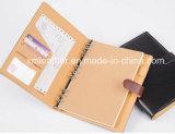 Кожаный дневник организатора с петлей пер для дела