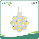 Bulbos do diodo emissor de luz do Bi-Pin da C.A. 12SMD5630 G4 da C.C. do disco