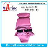 Chaleco de vida encantador de la natación del bebé del diseño del color rosado con las bragas